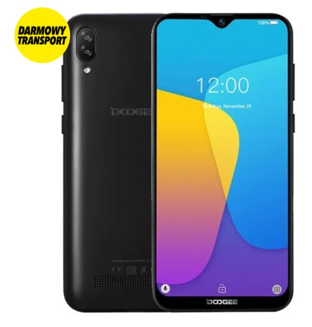 Smartfon DOOGEE X90 czarny.