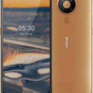 Smartfon Nokia 5.3 64 GB Dual SIM Brązowy (MT_5.3Sand) - 6935655