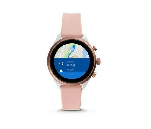 Fossil smartwatch FTW6022 F SilverNude Silicone Sport