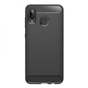Etui na smartfon WG Carbon do Samsung Galaxy A40 (2019) Czarny
