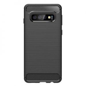Etui na smartfon WG Carbon do Samsung Galax S10+ Czarny