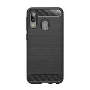Etui na smartfon WG Carbon do Samsung Galaxy A20e (2019) Czarny