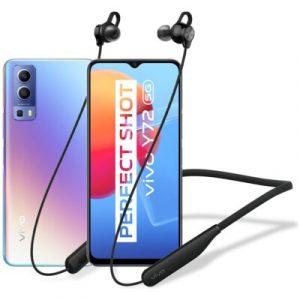 """Smartfon vivo Y72 8/128GB 5G 6.58"""" 60Hz Niebieski V2041 + Słuchawki Wireless Sport Lite"""