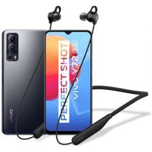 """Smartfon vivo Y72 8/128GB 5G 6.58"""" 60Hz Czarny V2041 + Słuchawki Wireless Sport Lite"""