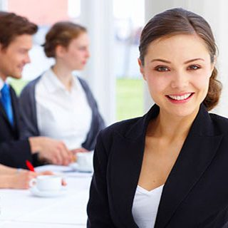 dziewczyna business woman spotkanie biznesowe sieci T-Mobile