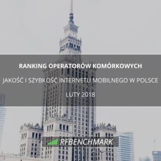 Szybkość internetu operatorów komórkowych Ranking.