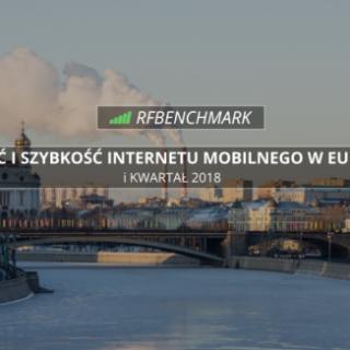 Prędkość internetu mobilnego w Europie.