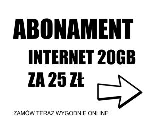 Abonament Internet 20GB
