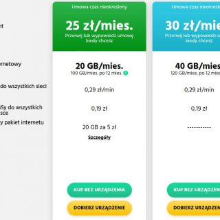 PLUSH internet mobilny oferta